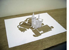 Peter Callesen\'s paper castle