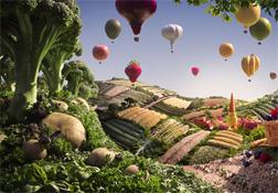 Carl Warner\'s photographic food landsapes