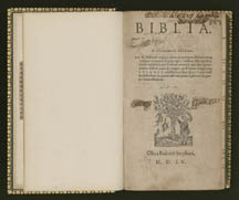 Biblia, from the Thomas Jefferson library