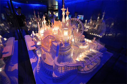 Lighted paper city by Wataru Itou #1