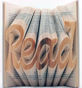 Read, an altered artist book by Isaac Salazar