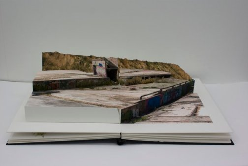 Pop-up landscape book by Swedish artist Andreas Johansson