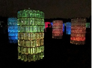Water Towers sculpture by Bruce Munro, Longwood Gardens, Kennett Square, PA