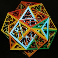 Paper Polyhedron by Ulrich Mikloweit