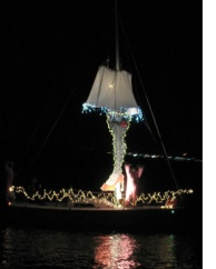 Lighted sailboat
