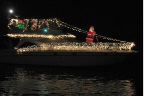 Lighted power boat