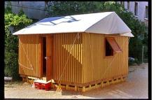 Shigeru Ban's Paper Log House