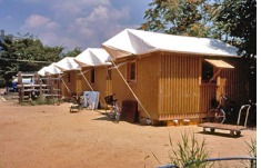 Shigeru Ban's Paper Log Houses