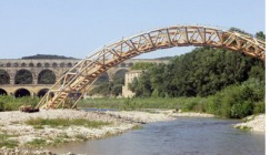 Shigeru Ban's paper tube bridge